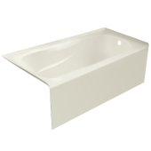 PRO 60'' W x 32'' D Biscuit Acrylic Bathtub with Sculpted Interior and Smooth Integral Skirt, Right Hand Drain, 60'' W x 32'' D x 20'' H