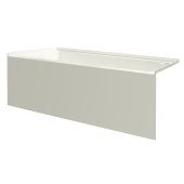 pSPACE 60'' W x 30'' D Biscuit Acrylic Bathtub with Smooth Integral Skirt with Left Hand Drain, 60'' W x 30'' D x 22'' H