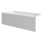 pSPACE 60'' W x 30'' D White Acrylic Bathtub with Smooth Integral Skirt with Left Hand Drain, 60'' W x 30'' D x 22'' H