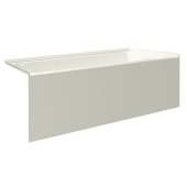 pSPACE 60'' W x 30'' D Biscuit Acrylic Bathtub with Smooth Integral Skirt with Right Hand Drain, 60'' W x 30'' D x 22'' H
