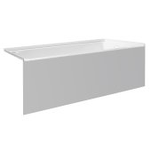 pSPACE 60'' W x 30'' D White Acrylic Bathtub with Smooth Integral Skirt with Right Hand Drain, 60'' W x 30'' D x 22'' H