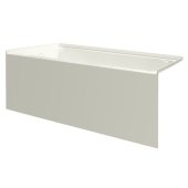 pSPACE 60'' W x 32'' D Biscuit Acrylic Bathtub with Smooth Integral Skirt with Left Hand Drain, 60'' W x 32'' D x 22'' H