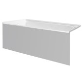 pSPACE 60'' W x 32'' D White Acrylic Bathtub with Smooth Integral Skirt with Left Hand Drain, 60'' W x 32'' D x 22'' H