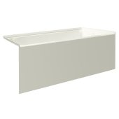pSPACE 60'' W x 32'' D Biscuit Acrylic Bathtub with Smooth Integral Skirt with Right Hand Drain, 60'' W x 32'' D x 22'' H