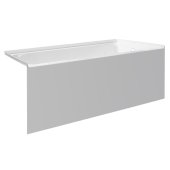 pSPACE 60'' W x 32'' D White Acrylic Bathtub with Smooth Integral Skirt with Right Hand Drain, 60'' W x 32'' D x 22'' H