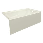 STARK 60'' W x 32'' D Biscuit Acrylic Contemporary Bathtub with Smooth Integral Skirt Right Hand Drain, 60'' W x 32'' D x 22'' H