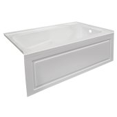 STARK 60'' W x 32'' D White Acrylic Contemporary Bathtub with Decorative Integral Skirt Right Hand Drain, 60'' W x 32'' D x 22'' H