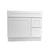 36'' Vanity Cabinet White, Knockdown