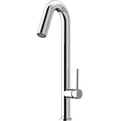Oakhurst Kitchen Faucet, Chrome, Faucet Height: 18-1/4'', Spout Reach: 6-1/8'', Hose Reach: 25''