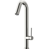 Oakhurst Kitchen Faucet, Stainless Steel, Faucet Height: 18-1/4'', Spout Reach: 6-1/8'', Hose Reach: 25''