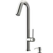 Oakhurst Kitchen Faucet, Stainless Steel, Soap Dispenser