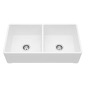 Farmhouse Casement Kitchen Sink in Matte White with Cutting Board and Strainers , 36''