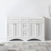 Talisa 60'' Double Bathroom Vanity, White, Cabinet Only, 59-1/10'' W x 21-2/5'' D x 35-1/5'' H