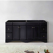 Talisa 72'' Double Bathroom Vanity, Espresso, Cabinet Only, 70-9/10'' W x 21-2/5'' D x 35-1/5'' H