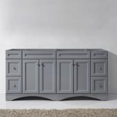 Talisa 72'' Double Sink Bathroom Vanity Cabinet in Grey,  70-7/8'' W x 21-15/32'' D x 35-1/4'' H