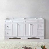Talisa 72'' Double Sink Bathroom Vanity Cabinet in White,  70-7/8'' W x 21-15/32'' D x 35-1/4'' H