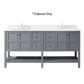 Winterfell 72'' Double Bathroom Vanity, Grey, Cabinet Only, 71-1/5'' W x 21-7/10'' D x 35-1/5'' H