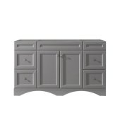 Talisa 60'' Single Bathroom Vanity, Grey, Cabinet Only, 59-1/10'' W x 21-2/5'' D x 35-1/5'' H
