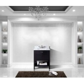 Winterfell 30'' Single Bathroom Vanity Set in Espresso, Italian Carrara White Marble Top with Square Sink