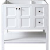 Winterfell 36'' Single Bathroom Vanity, White, Cabinet Only, 35-2/5'' W x 21-7/10'' D x 35-1/5'' H