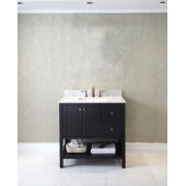 Winterfell 36'' Single Bathroom Vanity Set in Espresso, Italian Carrara White Marble Top with Square Sink