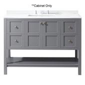 Winterfell 48'' Single Bathroom Vanity, Grey, Cabinet Only, 47-1/5'' W x 21-7/10'' D x 35-1/5'' H