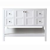 Winterfell 48'' Single Bathroom Vanity, White, Cabinet Only, 47-1/5'' W x 21-7/10'' D x 35-1/5'' H