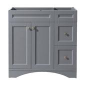 Elise 36'' Single Bathroom Vanity, Grey, Cabinet Only, 35-2/5'' W x 21-1/2'' D x 35-1/5'' H