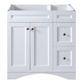 Elise 36'' Single Bathroom Vanity, White, Cabinet Only, 35-2/5'' W x 21-1/2'' D x 35-1/5'' H