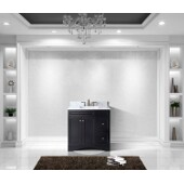 Elise 36'' Single Bathroom Vanity Set in Espresso, Italian Carrara White Marble Top with Square Sink
