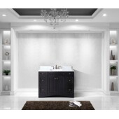 Elise 48'' Single Bathroom Vanity Set in Espresso, Italian Carrara White Marble Top with Square Sink