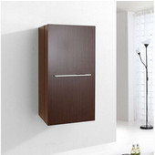 Carvell 16'' Vanity Side Linen Cabinet, Walnut