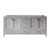 Caroline Avenue 72'' Double Bathroom Vanity Cabinet, Cashmere Grey, 72'' W x 21-1/2'' D x 34'' H