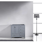 Caroline Avenue 36'' Single Bathroom Vanity, Grey, Cabinet Only, 35-1/5'' W x 21-7/10'' D x 33-1/2'' H