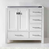 Caroline Avenue 36'' Single Bathroom Vanity, White, Cabinet Only, 35-1/5'' W x 21-7/10'' D x 33-1/2'' H