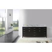Caroline Parkway 78'' Double Bathroom Vanity Set in Espresso, Italian Carrara White Marble Top with Round Sinks