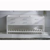 Caroline Estate 72'' Double Sink Bathroom Vanity Cabinet, White