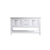 Julianna 60'' Bathroom Vanity Cabinet Only in White Finish