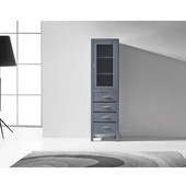 Wellmont 20'' Modern Side Cabinet in Grey