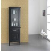 Walton 24'' Linen Cabinet in Espresso