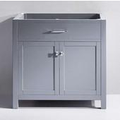 Caroline 36'' Single Bathroom Vanity, Grey, Cabinet Only, 35-1/5'' W x 21-7/10'' D x 33-1/2'' H