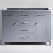 Caroline 48'' Single Bathroom Vanity, Grey, Cabinet Only, 47-1/5'' W x 21-7/10'' D x 33-1/2'' H