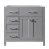 Caroline Parkway 36'' Single Bathroom Vanity with Left Side Drawers, Cashmere Grey, Cabinet Only, 35-1/5'' W x 21-7/10'' D x 33-1/2'' H