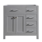 Caroline Parkway 36'' Single Bathroom Vanity with Right Side Drawers, Cashmere Grey, Cabinet Only, 35-1/5'' W x 21-7/10'' D x 33-1/2'' H