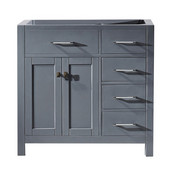 Caroline Parkway 36'' Single Bathroom Vanity with Right Side Drawers, Grey, Cabinet Only, 35-1/5'' W x 21-7/10'' D x 33-1/2'' H