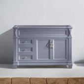 Victoria 48'' Single Bathroom Vanity, Grey, Cabinet Only, 47-1/5'' W x 21-7/10'' D x 34-1/10'' H