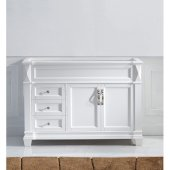 Victoria 48'' Single Bathroom Vanity, White, Cabinet Only, 47-1/5'' W x 21-7/10'' D x 34-1/10'' H