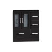 Zola 30'' Vanity Base Cabinet Only in Espresso, 28-11/16'' W x 17-7/8'' D x 32-11/16'' H