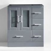 Zola 30'' Vanity Base Cabinet Only in Grey, 28-11/16'' W x 17-7/8'' D x 32-11/16'' H