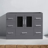 Zola 48'' Single Bathroom Vanity, Grey, Cabinet Only, 46-9/10'' W x 17-7/10'' D x 32-7/10'' H